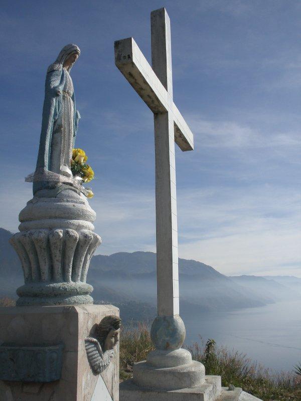 religious symbols, Walk from Xela to Lake Atitlan