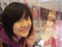 me in the Barbie store in Shanghai