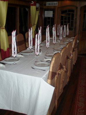 Dinner time aboard