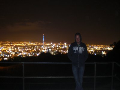 Gerald at the top of Mount Eden