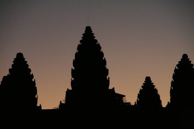 The Sun Is Rising Over Angkor Wat