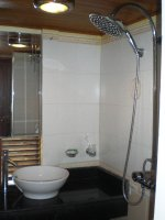 Our onboard private bathroom
