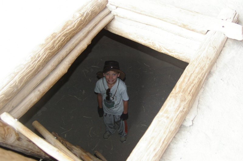 Shane in the Kiva.....Bandelier National Monument