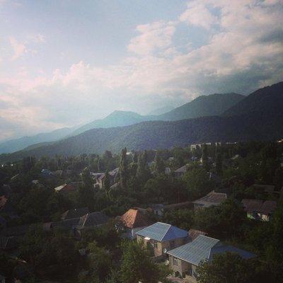 Qabala, view from balcony
