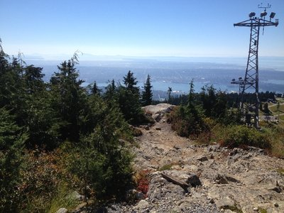 Grouse Mountain and views