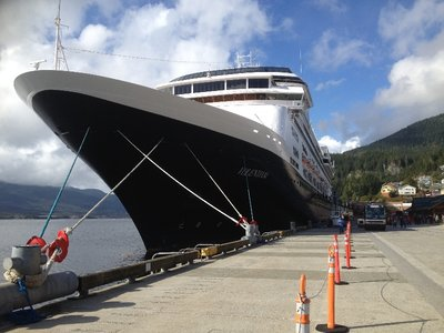 Ship docked at Ketchikan