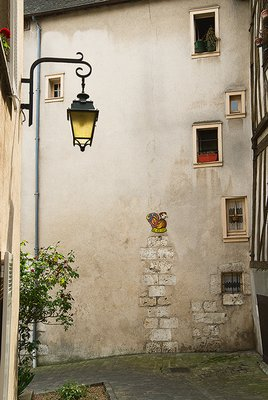 Back street in old town Chartres France