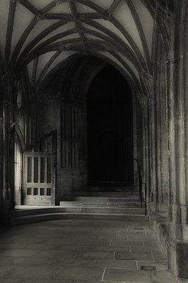 Cloisters at Wells Cathedral in Wells England