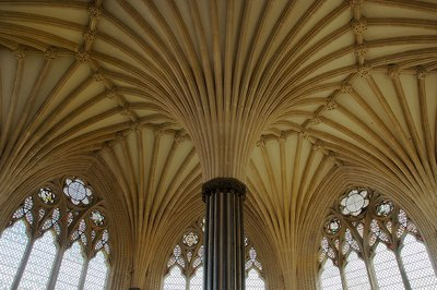 Lady Chapel at Wells with Its Vaulted Columns