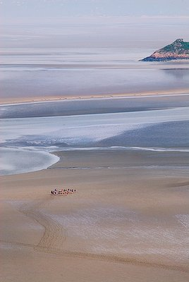 View from ramparts of St. Mont Michel