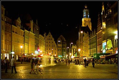 Wroclaw Square Night