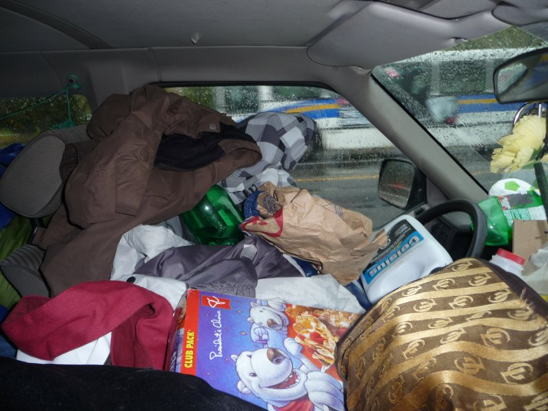 Packed Front of Car
