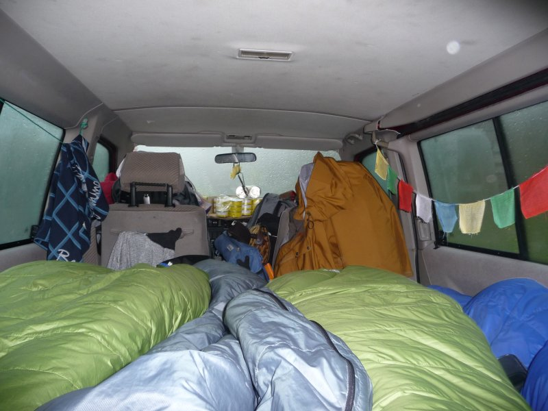 Sleeping place during roadtrip