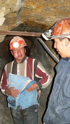 Potosi miners chatting