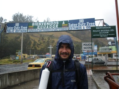 crossing the border to ecuador, adam