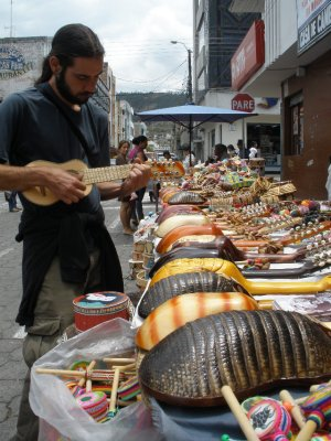 picking out the charango