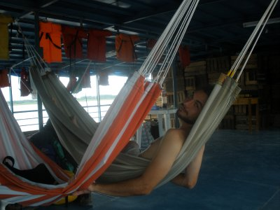 our hammocks on the Eduardo IV