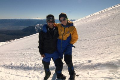 Volcn Villarrica - Sam and I