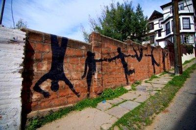 Valparaiso Street Art - Brick Wall