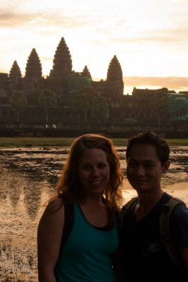 Sam and I @ Angkor Wat