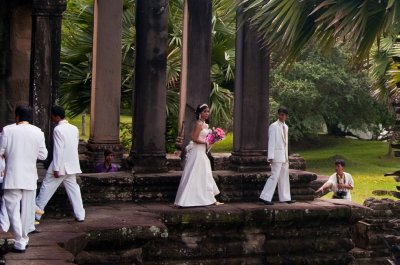 A wedding in Angkor Wat