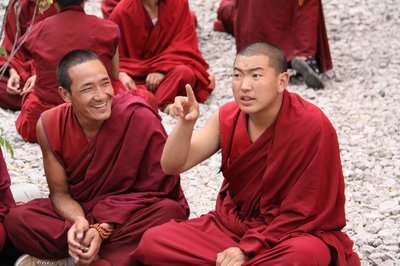 monks enjoying their debate
