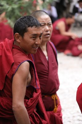 Tibetan monks