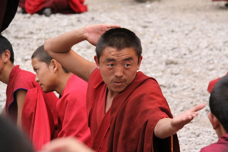 clapping monk