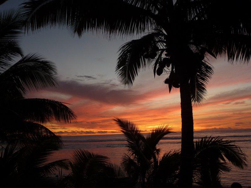 Cook Island sunset....