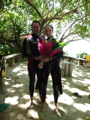 Happy after deepest dive todate