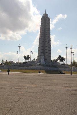Eerie empty Plaza de la Revolución