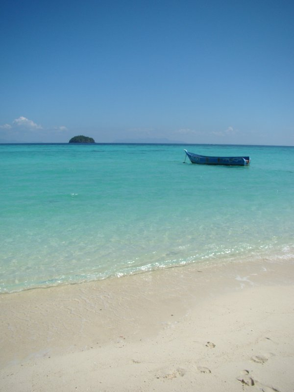 Beach boat island