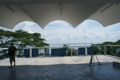 View from the hill over Sandakan