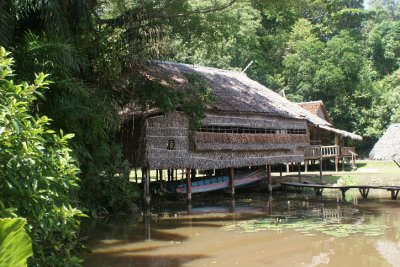 Traditional Malaysian tribe huts