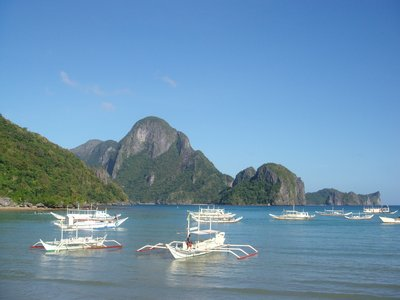 View from our hotel, El Nido