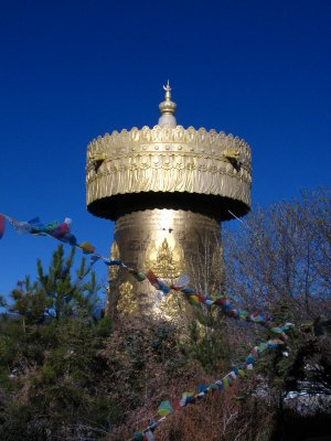 Ginormous prayer wheel