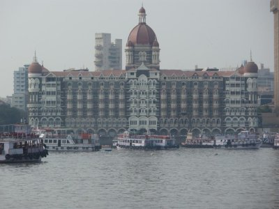 Taj Mahal Palce hotel from the harbour