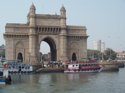 The Gateway of India from the harbour