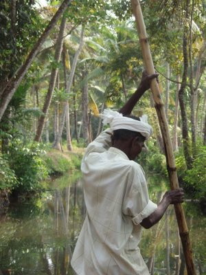 Punter on the backwaters