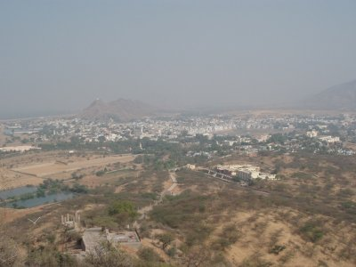 Pushkar from the temple on the hill