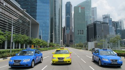 Taxis in Marina Bay