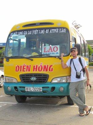 En el bus de Vietnam a Laos