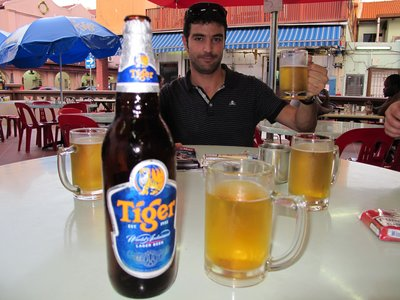 Tiger, the Singa beer!