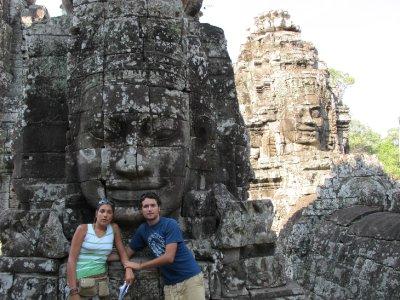 Caras enigmaticas en Angkor Thom
