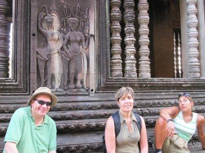 En family en Angkor Wat