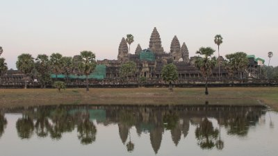 Angkor Wat desde el jardin