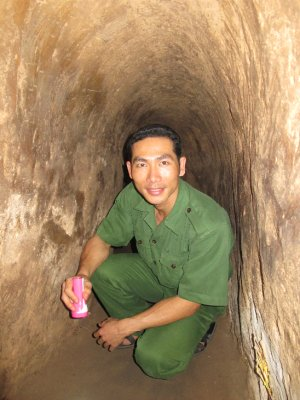 Tuneles del Vietcong en su lucha contra EEUU