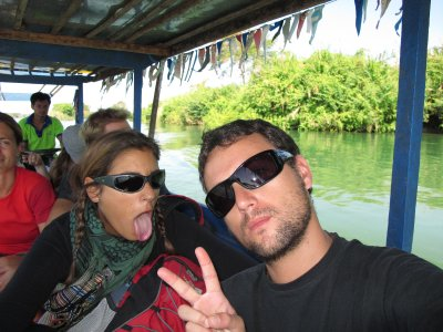 En la barca a Don Khon!!!