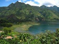 The view as you approach San Juan La Laguna