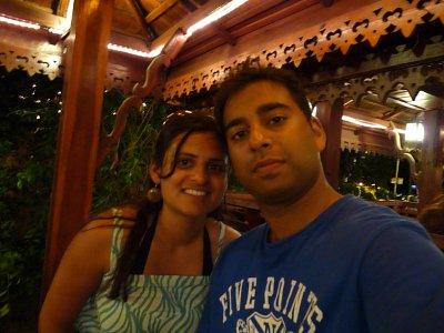 Us at dinner